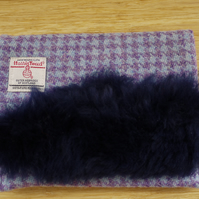 Harris Tweed and Sheepskin Clutch Bag