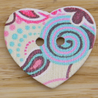Heart Button Embellishment N