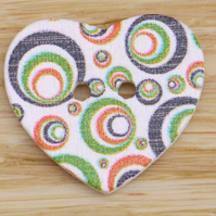 Heart Button Embellishment P
