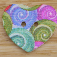 Heart Button Embellishment O