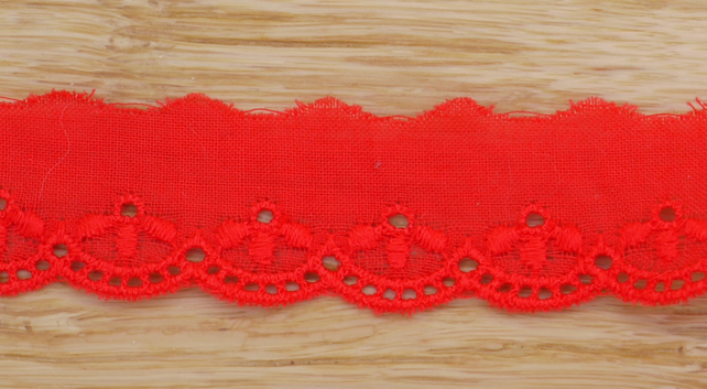 Red Broderie Anglaise