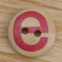 Letter E wooden buttons