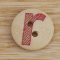 Letter R wooden buttons