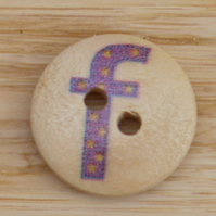 Letter F wooden buttons