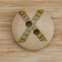 Letter X wooden buttons