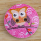 Orange Owl wooden buttons