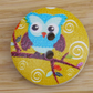 Blue Owl wooden buttons