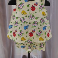 Little girls Elephant top and shorts