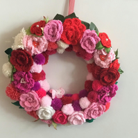 Hand Crochet Summer Door Wreath