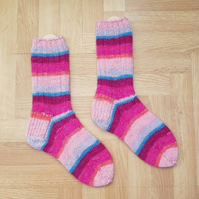 Pink Hand Knitted Socks