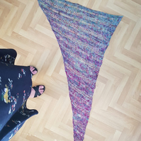 Unique Hand Knitted Shawl