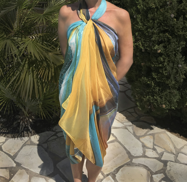 Scarf and sarong from my artwork 'Illusion,