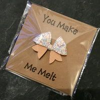 Hair Bow Greetings Card