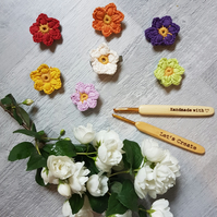 Cotton flower hair clips any colour made by letscreateagift