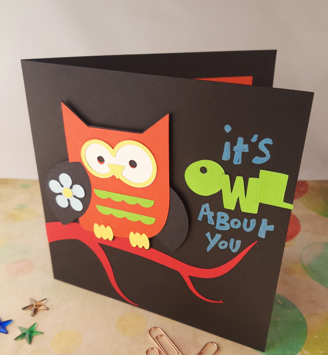 Phenomenal Its Owl About You Handmade Birthday Card Folksy Personalised Birthday Cards Paralily Jamesorg