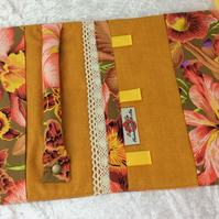 Orchids Jewellery Roll organiser travel case Kaffe Fassett Philip Jacobs