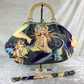 Mermaids Sea Sirens large fabric frame handbag purse with strap or chain