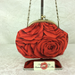 Red Roses small frame handbag clutch purse with detachable chain