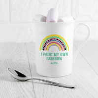 Make Your Own Rainbow Personalised Mug!