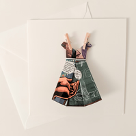 Origami Dress Card - Comic book pages