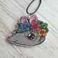 Flower Crown Rat Necklace