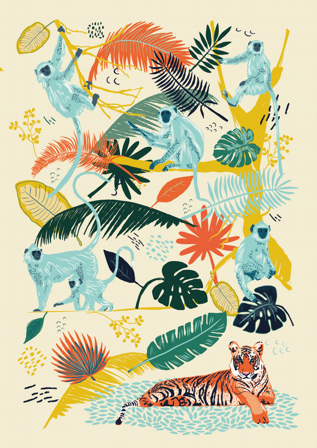 Langur Monkeys - A4 Print