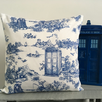 Doctor Who Toile Cushion Cover