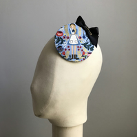 Alice in Wonderland Fascinator - Blue