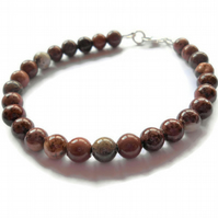 Coffee Bean Jasper Bracelet