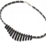 Haematite and Sterling Silver Tapered Necklace
