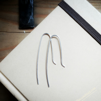Dainty Silver Minimalist Earrings