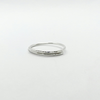 Silver Lightly Textured Wrap Ring