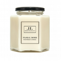 Floral Bomb Scented Candle. (FEMININE PERFUME TYPE) Three Sizes Available