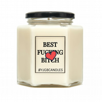 Best Fucking Bitch Galentines Scented Candle, Three Sizes Available