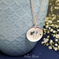 Silver Poppy Necklace