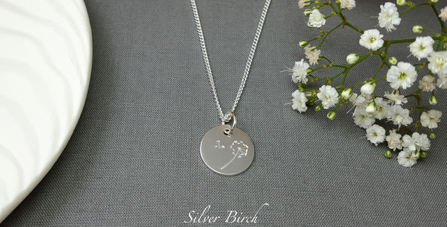 Silver Wish Charm Necklace