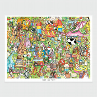 Fairy Tale Party A2 Print