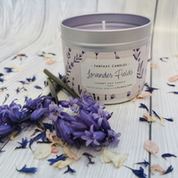 Lavender Fields Hand Poured Soy Candle - Vegan Friendly Gift