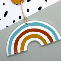 Rainbow Polymer Clay Hanging Decoration