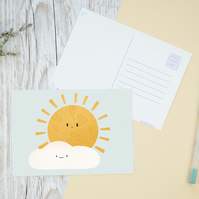 Sunny Day Illustration Postcard