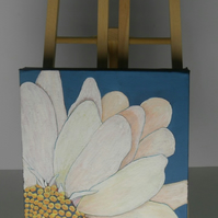 Acrylic flower painting called 'Daisy' by Nicola Crook