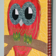 Nursery Art - Owl - original painting - 'Abby'
