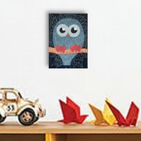 Nursery Art - Owl - original painting - 'Calla'