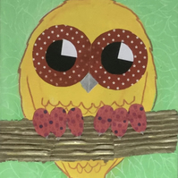 Nursery Art - Owl - original painting - 'Bailey'