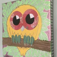 Nursery Art - Owl - original painting - 'Danni'