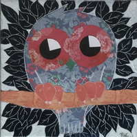 Nursery Art - Owl - original painting - 'Edith'