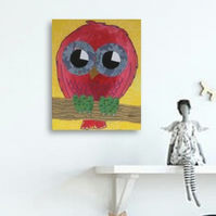 Nursery Art - Owl - original painting - 'Babs'