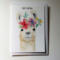 Llama Card, Llama Birthday Card