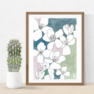 Abstract Floral Pastel print