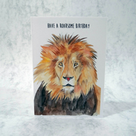 Have a roarsome birthday, lion birthday card